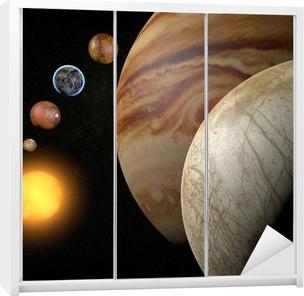 Satellit Europa, Luna di Giove, Spazio sistema solare Garderobe klistermærke