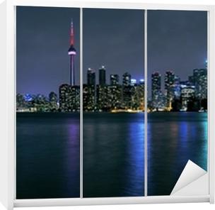 Toronto by om natten Garderobe klistermærke