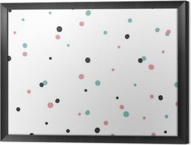 Gerahmtes Leinwandbild Abstrakte nahtlose Muster auf weißem Hintergrund mit Schwarz und Gol