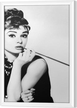 Gerahmtes Leinwandbild Audrey Hepburn
