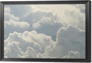 Gerahmtes Leinwandbild Blauer Himmel und schönen Wolken