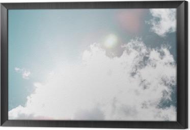 Gerahmtes Leinwandbild Blue sky