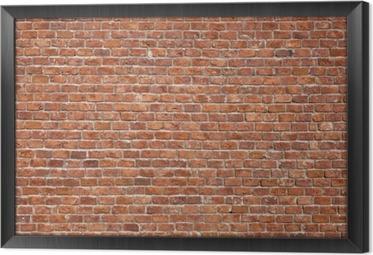 Gerahmtes Leinwandbild Brick Wall Hintergrund