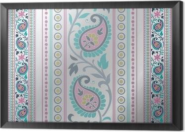 Tapete Bunte Paisley-Blumenmuster, Hochzeits-Schablone, Indien ...