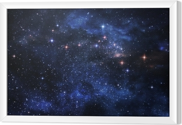 Gerahmtes Leinwandbild Deep space Nebel