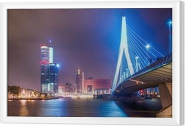 Gerahmtes Leinwandbild Erasmus Brug Rotterdam