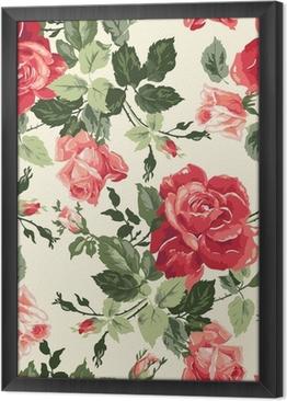 Gerahmtes Leinwandbild Fancy rose wallpaper