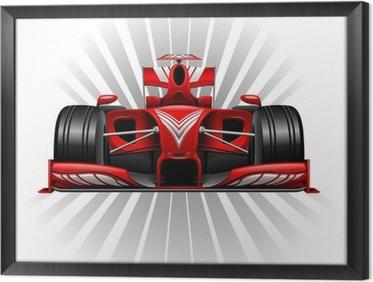 Gerahmtes Leinwandbild Formel 1 Red Racing Car