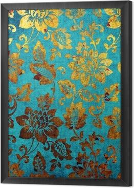 Gerahmtes Leinwandbild Golden-blaue Vintage-Hintergrund