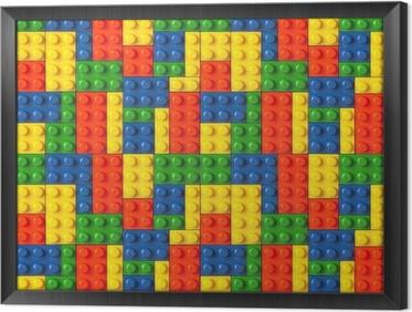 Gerahmtes Leinwandbild Lego Hintergrund