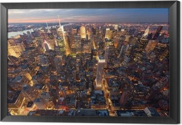 Gerahmtes Leinwandbild Manhattan aus der Luft