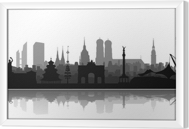 Gerahmtes Leinwandbild München Sehenswürdigkeiten