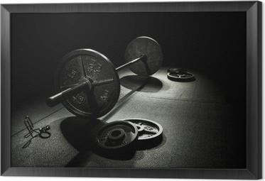 Gerahmtes Leinwandbild Olympia Gewichte
