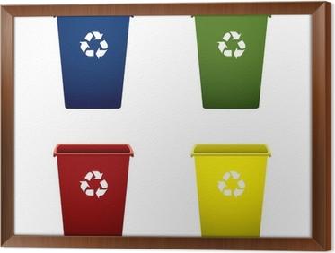 Recycling Mülleimer leinwandbild plastic recycling mülleimer pixers wir leben um