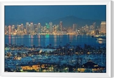 Gerahmtes Leinwandbild San Diego Downtown