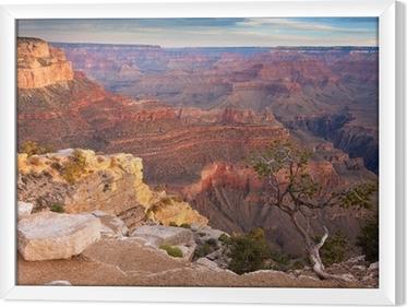 Gerahmtes Leinwandbild Sonnenaufgang über dem Grand Canyon