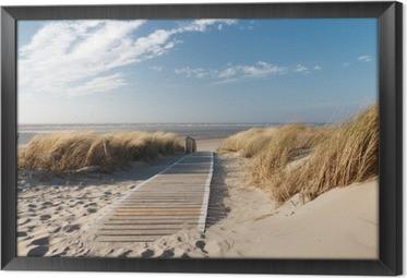 Gerahmtes Leinwandbild Strand an der Nordsee