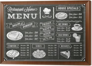 Poster Tafel Restaurant Menü-Schablone • Pixers® - Wir leben, um zu ...