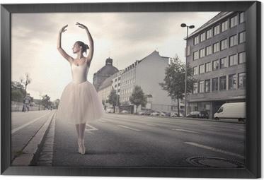 Gerahmtes Leinwandbild Tänzerin