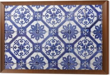 Poster Traditionelle Portugiesische Fliesen Azulejos Lissabon - Portugiesische fliesen kaufen