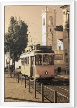 Gerahmtes Leinwandbild Tram lisbon