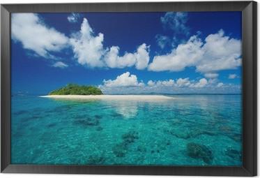 Gerahmtes Leinwandbild Tropische Insel Urlaubsparadies