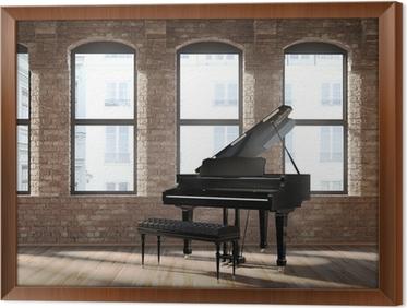 Fototapete Vintage romantische Loft Interieur, mit einem schwarzen ...