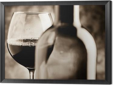 Gerahmtes Leinwandbild Weinproben - Weinprobe