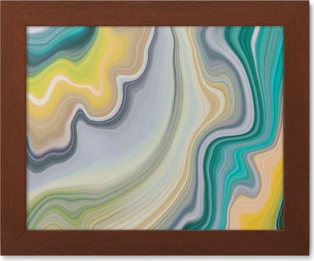 gerahmte poster abstract marmorierten hintergrund dekorative achat textur flussig marmorierung kreativ bemalt tapete grunen und gelben wellenlinien - Flussig Tapete