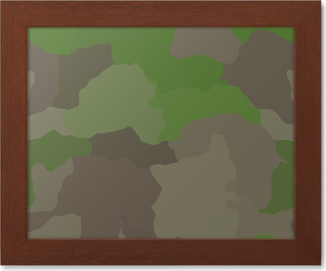 Gerahmtes Poster Camouflage Muster Dschungel Farben Design Grafik Tapete