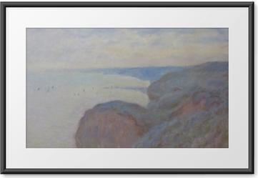 Gerahmtes Poster Claude Monet - Klippen von Dieppe