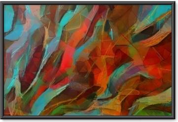 Gerahmtes Poster Handzeichnung Wand Poster drucken. abstrakte Kunst. Ölgemälde. Impressionismus Stil. gut für Druckgrafik auf Leinwand oder Papier. moderne trendige Kunst. zeitgenössisch bildhaft. echte Pinselstriche.