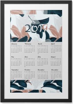 Gerahmtes Poster Kalender 2019 - Blumen