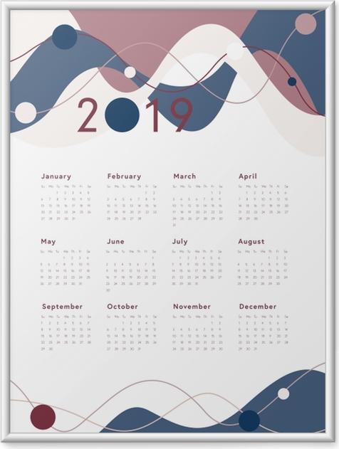 Gerahmtes Poster Kalender 2019 -