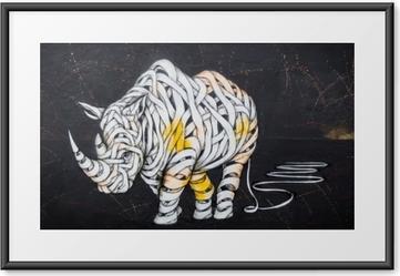 Gerahmtes Poster Nashorn-Tag