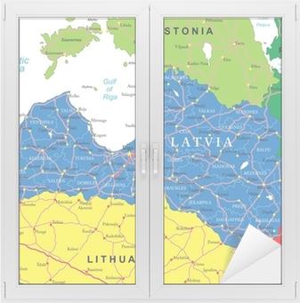 Lettland Karta Europa.Poster Lettland Karta Pixers Vi Lever For Forandring