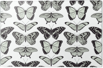 Glass print Butterfly seamless vintage background