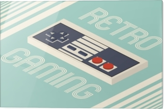 Glass print Retro gaming vector illustration