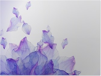 HD Poster Aquarell-Karte mit lila Blütenblatt
