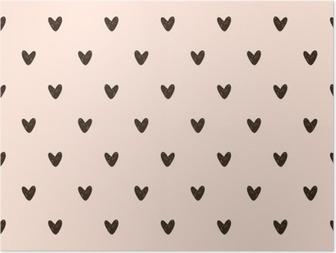 HD Poster Nahtlose Herzen Muster