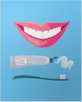 HD Poster Beyaz Diş ile Gülümseme