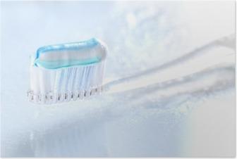 HD Poster Beyaz zemin üzerine sqweezed diş fırçası