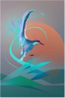 HD Poster Kuş martı sumru