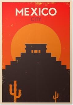 HD Poster Meksika Vintage Poster Tasarım