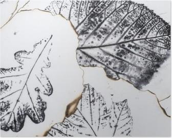 HD Poster Sanatsal resim - yaprakların izleri - Grafik - monotype