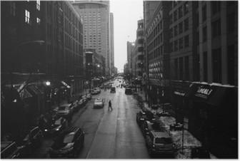 HD Poster Siyah ve Beyaz Chicago Sokaklar