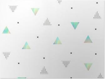 HD Poster Hipster mönster med trianglar textur hologram