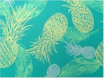 HD Poster Tropische naadloos patroon.