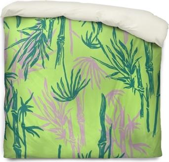 Bambou Motif Tropical Sans Soudure Sur Fond Vert Lime Exotique Papier Peint Végétal Asiatique Tropical Imprimé Textile Nature Chinois Ou Japonais