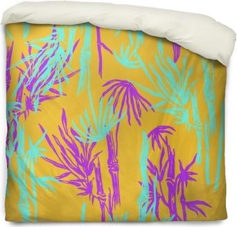 Modèle De Feuilles Tropicales Sans Soudure De Bambou Sur Fond Branché Exotique Papier Peint Végétal Asiatique Tropical Imprimé Textile Nature